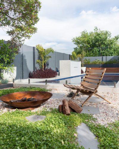 Outside In Garden Fire Pit